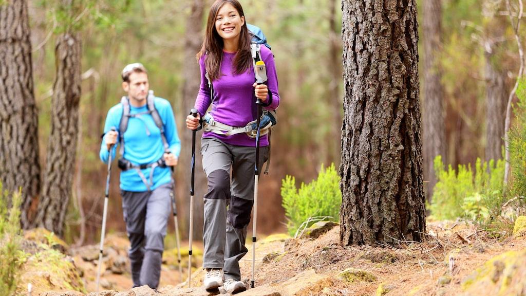 Vandringsstavar minskar påfrestningen på ben, knän, fotleder och fötter. Det är en effektiv träningsform eftersom även armarna aktiveras på ett sätt som de inte skulle ha gjort utan vandringsstavar.