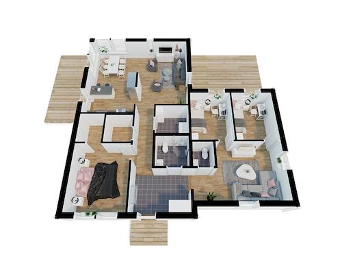 Planlösning för villan Home #502 från Movehome.
