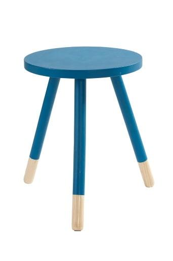 Rund pall/bord av lackad mdf och ben av ljust trä. Finns i färgerna cerise, limegul och turkos. Storlek: Höjd 45 x 35 cm.
