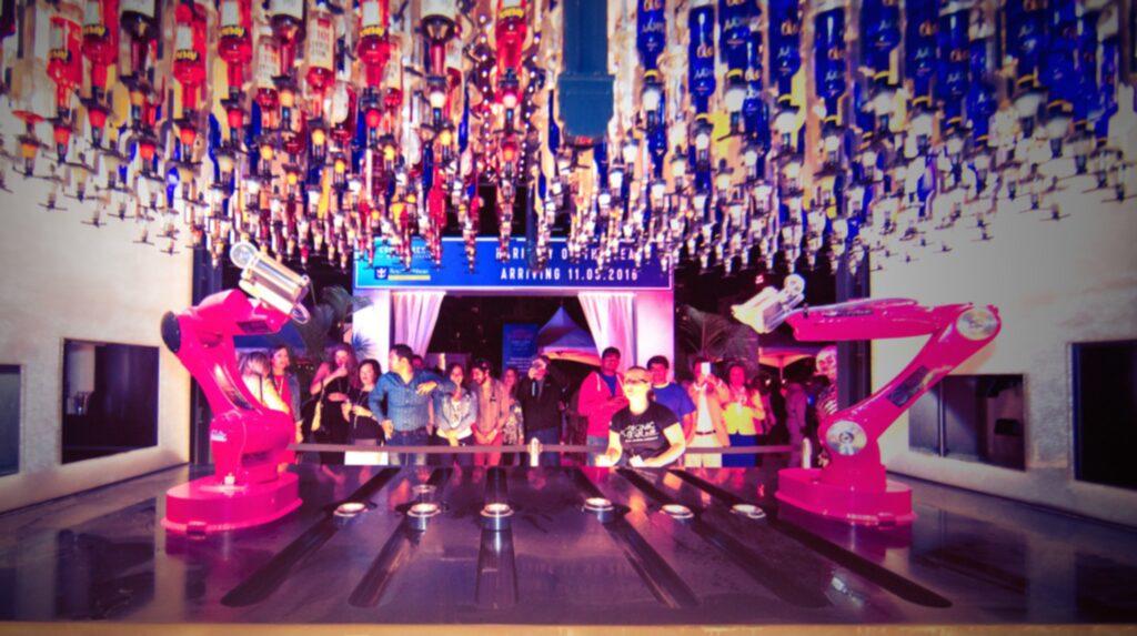 <p>Bartender-robotarna visar upp sina skills på en mat- och dryckfestival i Florida.<br></p>