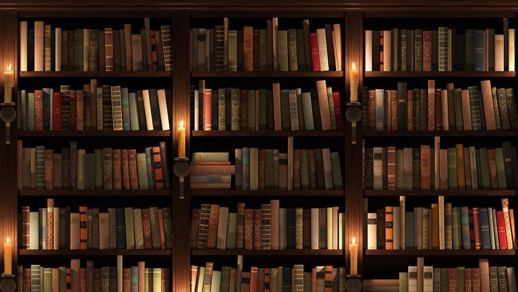 Många besökare blir glada av att se en välfylld bokhylla med titlar som säger något om den som bor där.