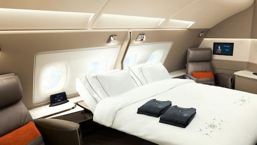 Nya förstaklassviterna på Singapore Airlines A380.