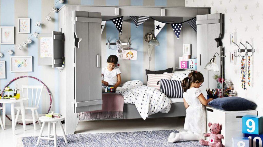 <p>Många barn gillar kojkänsla. Här nya kojsängen Vimmerby, från Mio. Finns i grå- och vitlasyr<br></p>