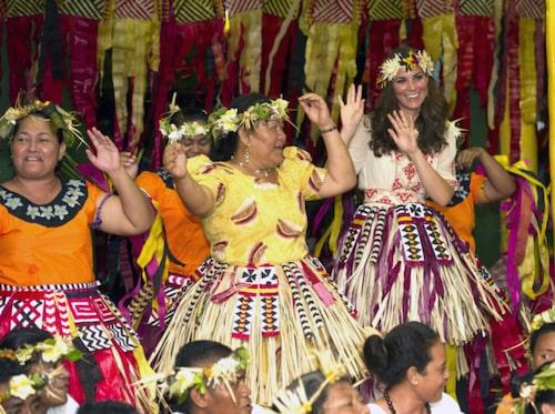 Kate Middleton har besökt Tuvalu.