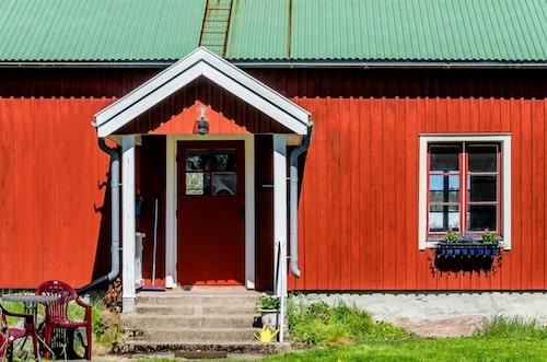 Från början stod huset på Lågarö men flyttades senare till Rådmasnö.