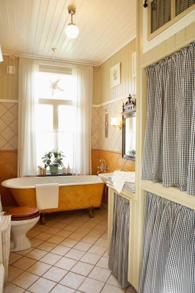 Badrummet i gammeldags stil.