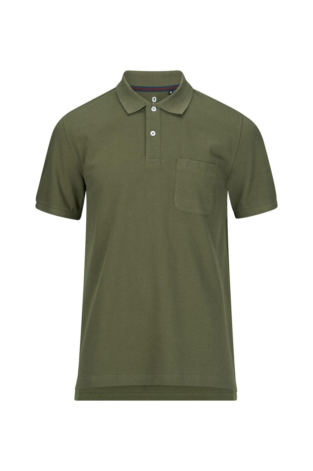 Den här pikéskjortan finns även i vinrött och blått, och kostar 299 kronor.