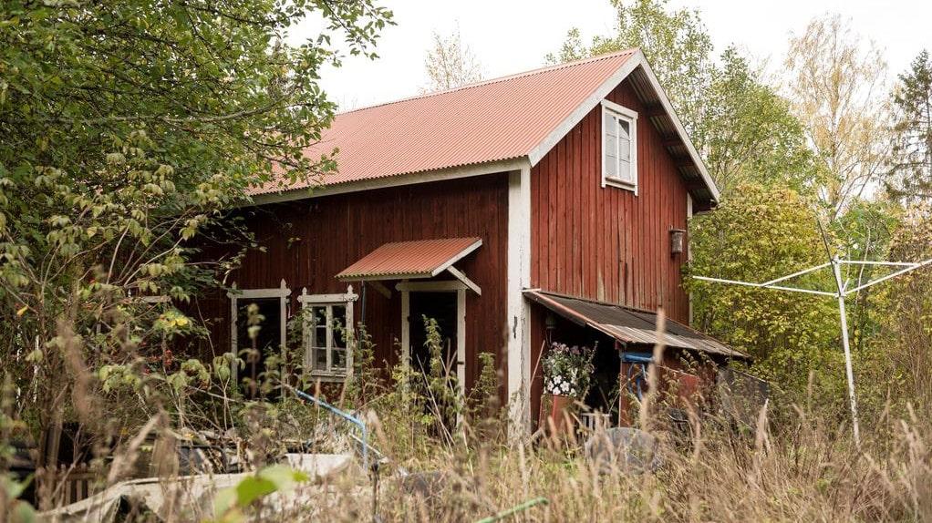 Tomten är 8921 kvadratmeter och här finns flera mindre hus.