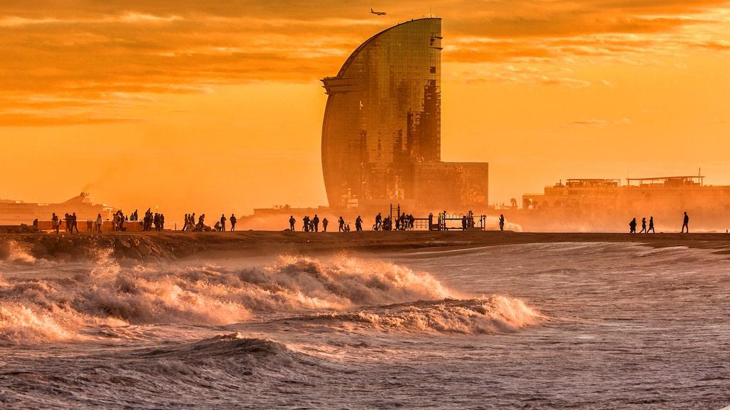 I Barcelona får man både strand och stad – något som många resenärer uppskattar.
