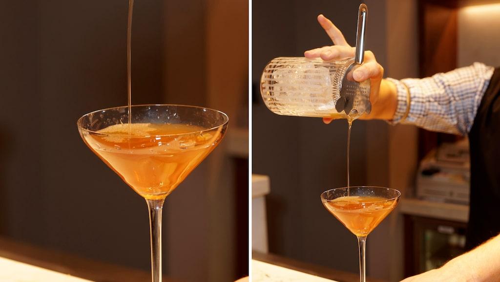 Nomayo med gin, Aperol, fläderlikör och bubbel.