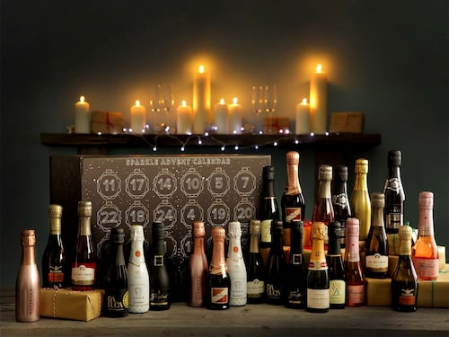 Julkalendrar med mousserande vin brukar göra folk entusiastiska.
