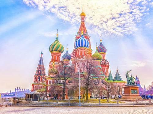 Basilikakatedralen på Röda torget i Moskva i Ryssland.
