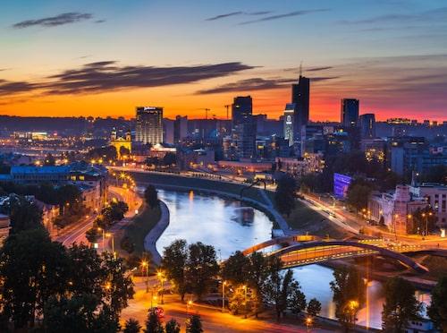 Vilnius är litet men charmigt, och gör sig bäst på sommarhalvåret.