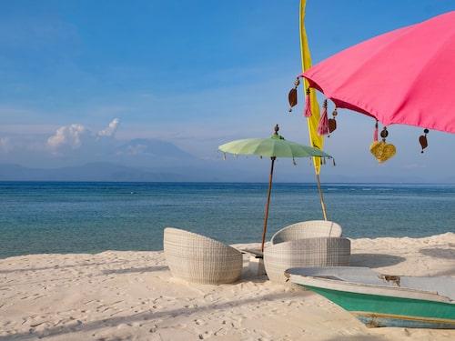 En av alla drömmiga stränder på Bali.