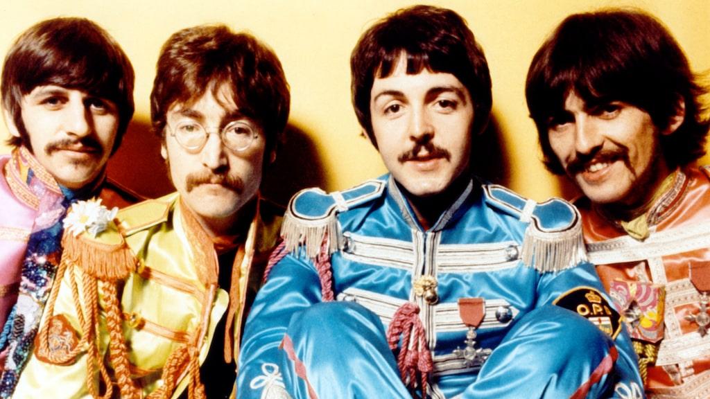 """Beatles 1967 då skivan """"Strawberry Fields Forever"""" gavs ut."""