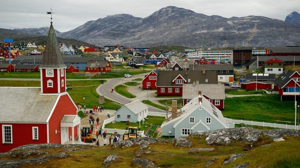 Nuuk, som är Grönlands huvudstad.