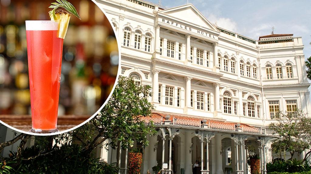 På hotellet Raffles i Singapore skapades drinken Singapore sling, som tillhör slingfamiljen.