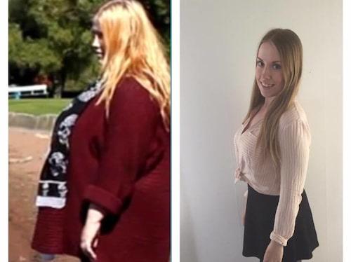 På 16 månader har hon lyckats bli av med 80 kilo.