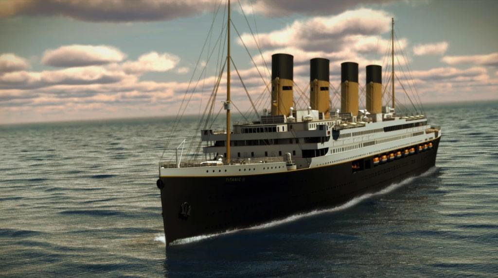 Så här ska Titanic II:s yttre se ut 2018.