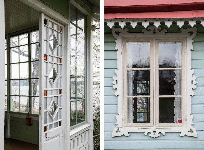 """""""Det är en mycket vacker liten byggnad med snickarglädje"""", säger mäklaren Titti Enander."""