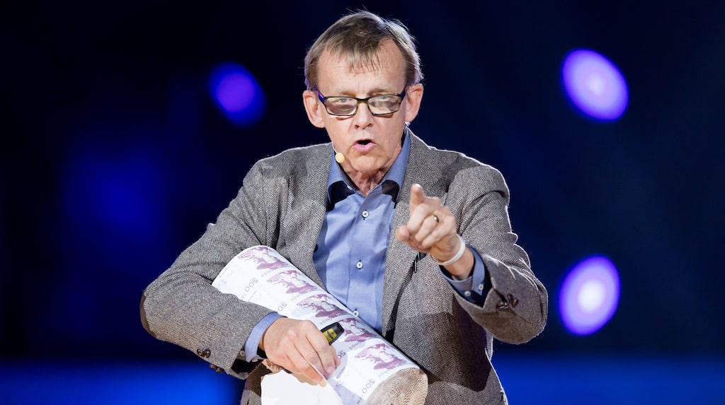 Typisk intelligent och pålitlig med svensk brytning - professor Hans Rosling (1948-2017).