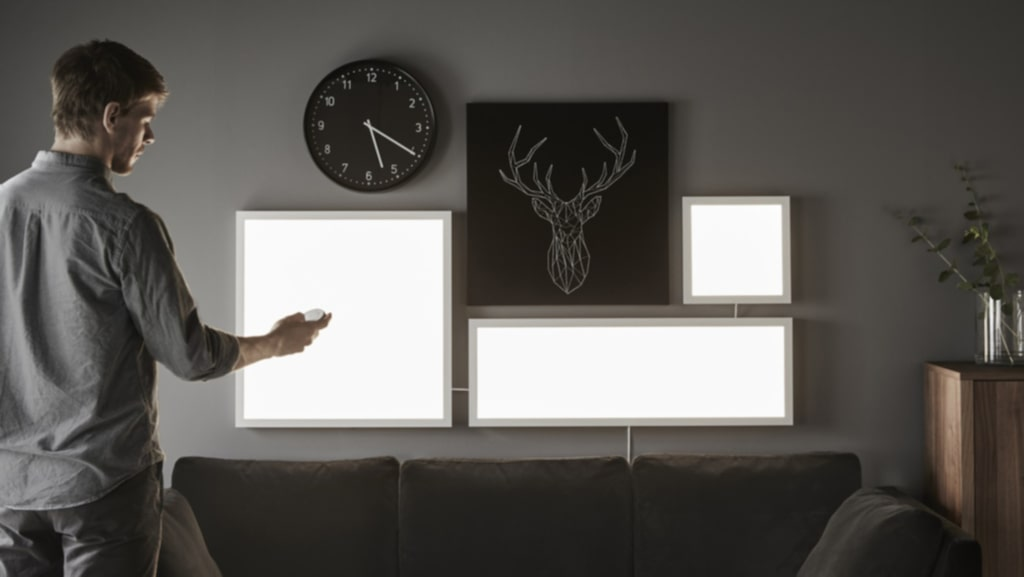 <p>Lagom till att det blir mörkare ute lanserar Ikea en ljus nyhet. Serien Smart belysning består av LED-lampor, ljuspaneler och ljusdörrar.<br></p>