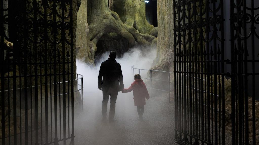 Här får besökare gå in genom de gigantiska grindarna för en skogspromenad utöver det vanliga...