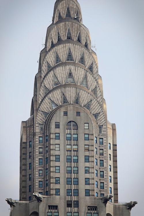 Chrysler Building i New York är känd för sin art déco-stil från 1930-talet.