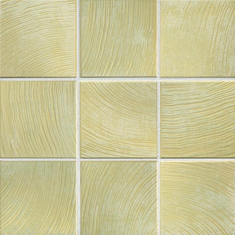 En mild, vårgrön och räfflad platta. 1220 kronor per kvadratmeter, dekora.se.