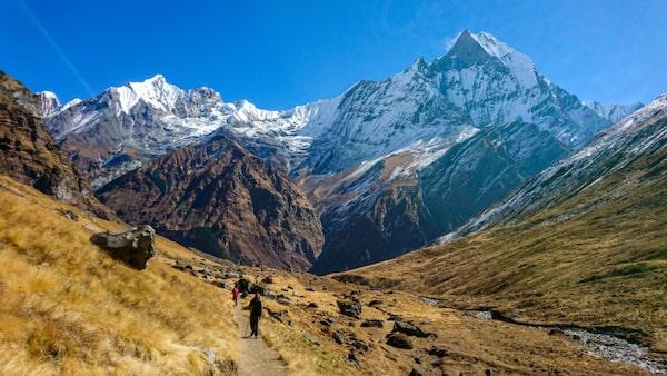 Vandra i Himalaya.
