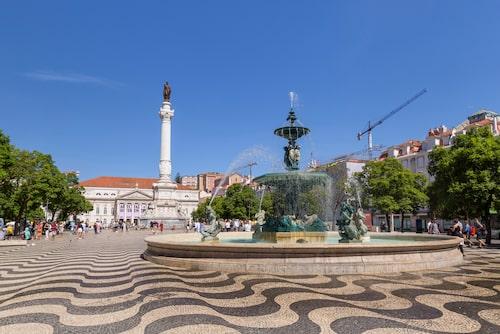 Lissabons mest kända torg.