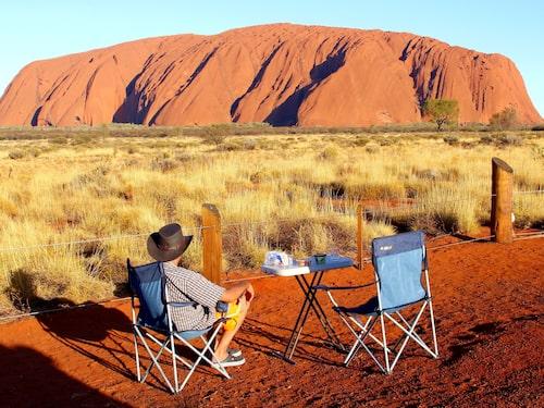I oktober förbjöds all klättring på Australiens röda klippa.