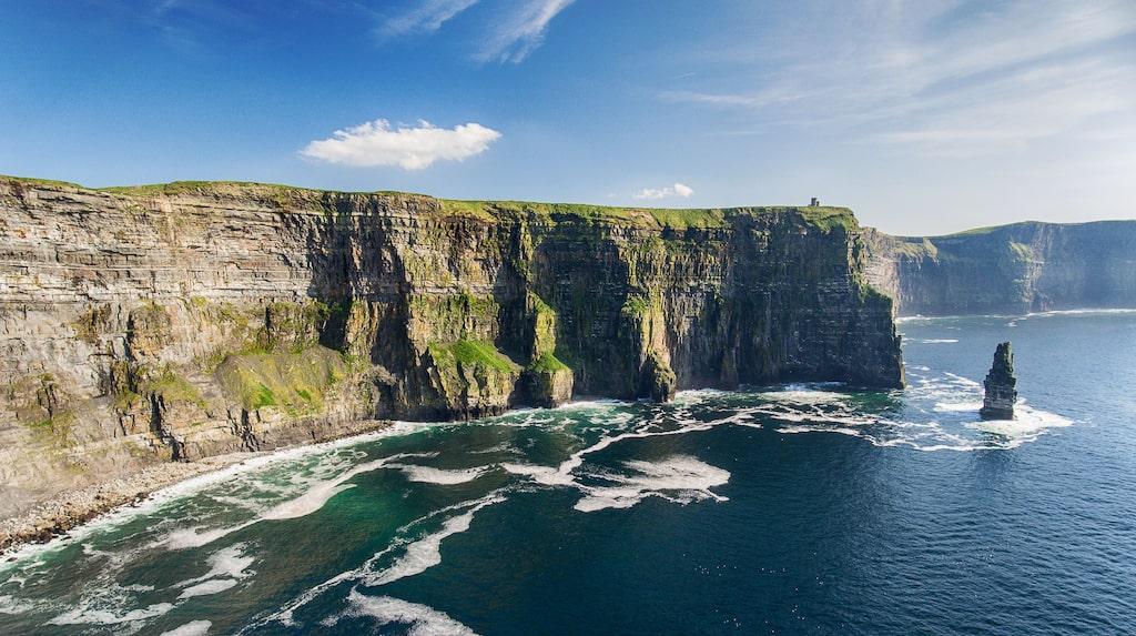 Cliffs of Moher på Irlands västkust.