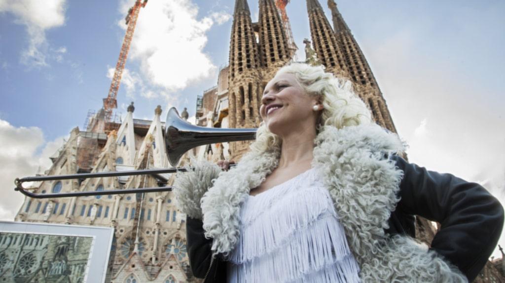 <p>Gunhild Carling är mycket imponerad av Gaudis Sagrada Familia bland annat.</p>
