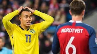 c8d8dcc5 Robin Quaison gjorde två mål för Sverige mot Norge Foto: JON OLAV NESVOLD /  BILDBYRÅN NORWAY
