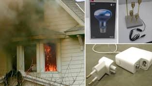 Kolla listan ???har du farliga elprylar i hemmet?