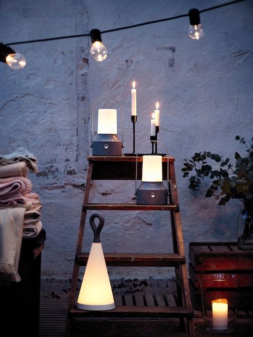 Solvinden led heter Ikeas solcellsdrivna bordslampa för 149 kronor.