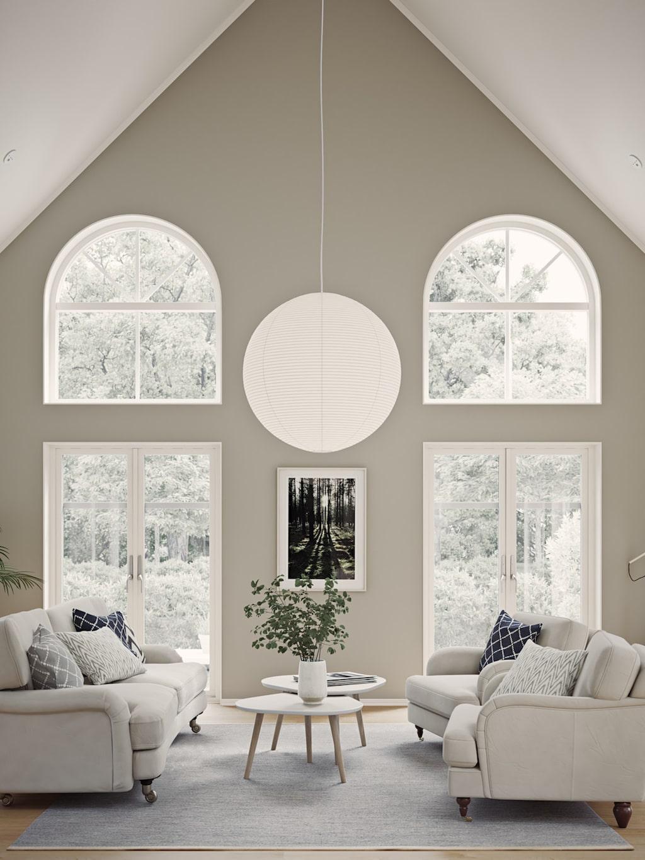 Vackra fönster på Villa Solstrimma från Myresjöhus.