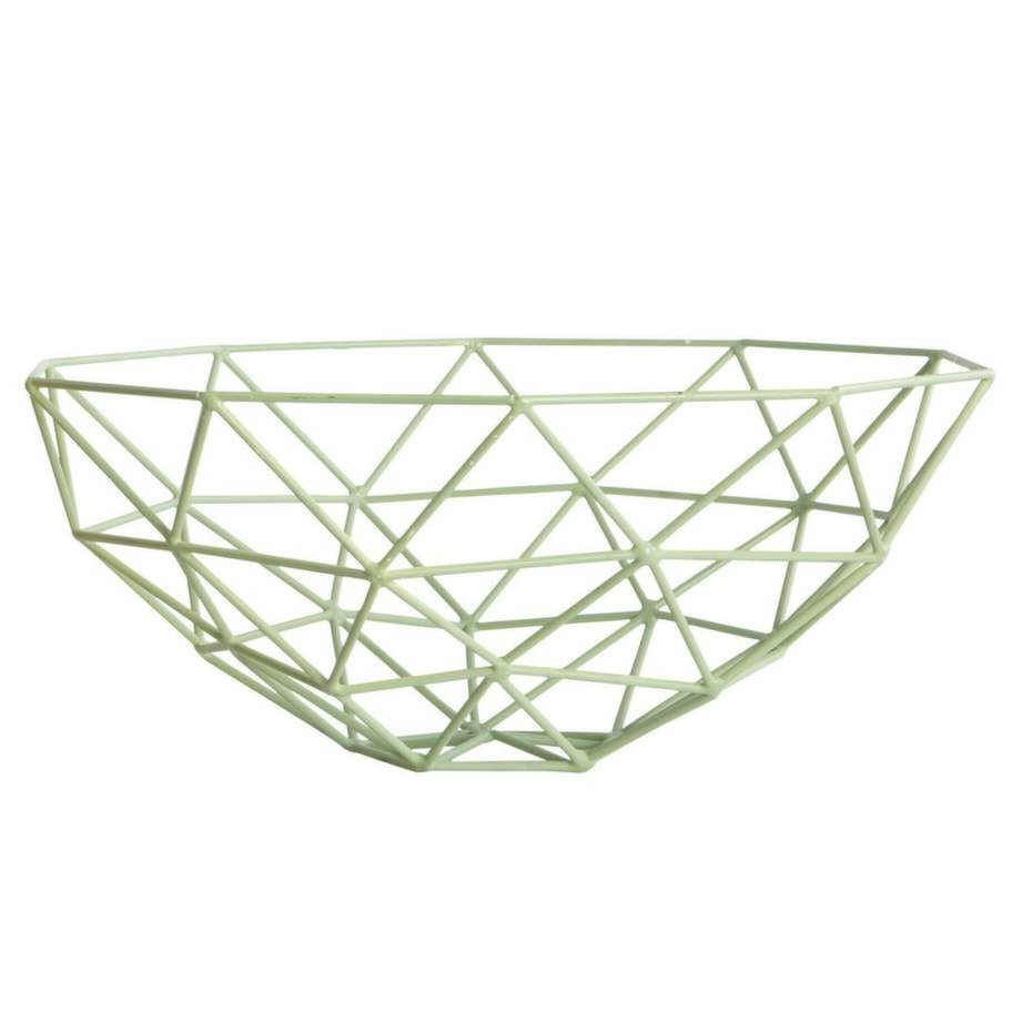 Passar till Virrvarr: Mintgrön korg, 33 centimeter i diameter, 395 kronor, House doctor.