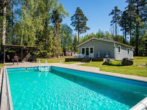 Det här huset kan användas både som permanentboende och sommarhus.