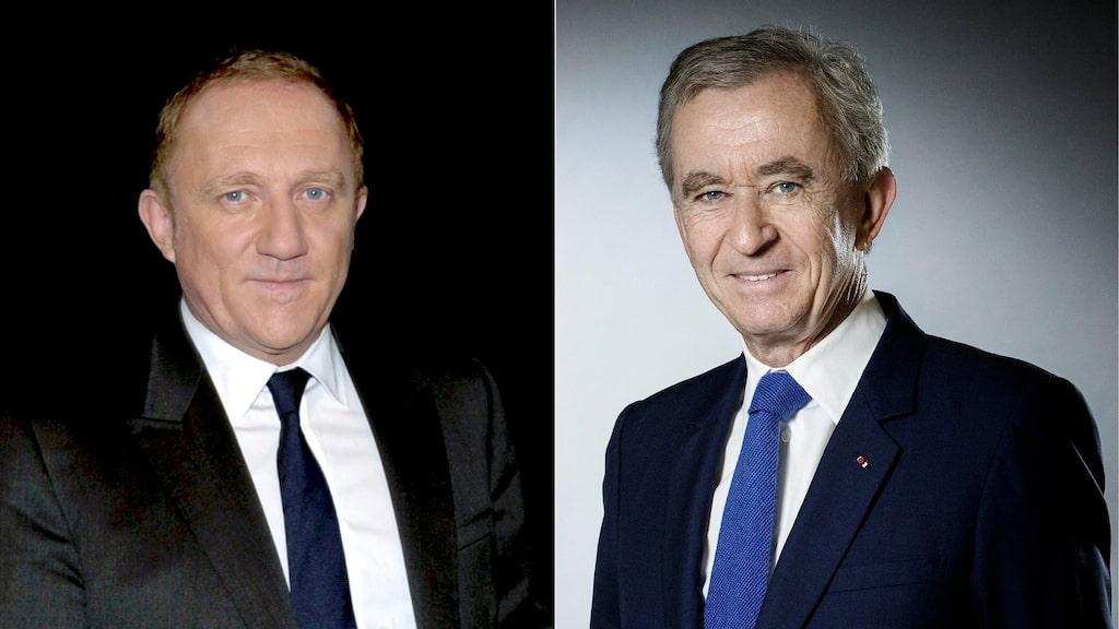 François Pinault och Bernard Arnault beskrivs som hjältar i Frankrike efter ett löfte om donationer på mer än tre miljarder kronor.