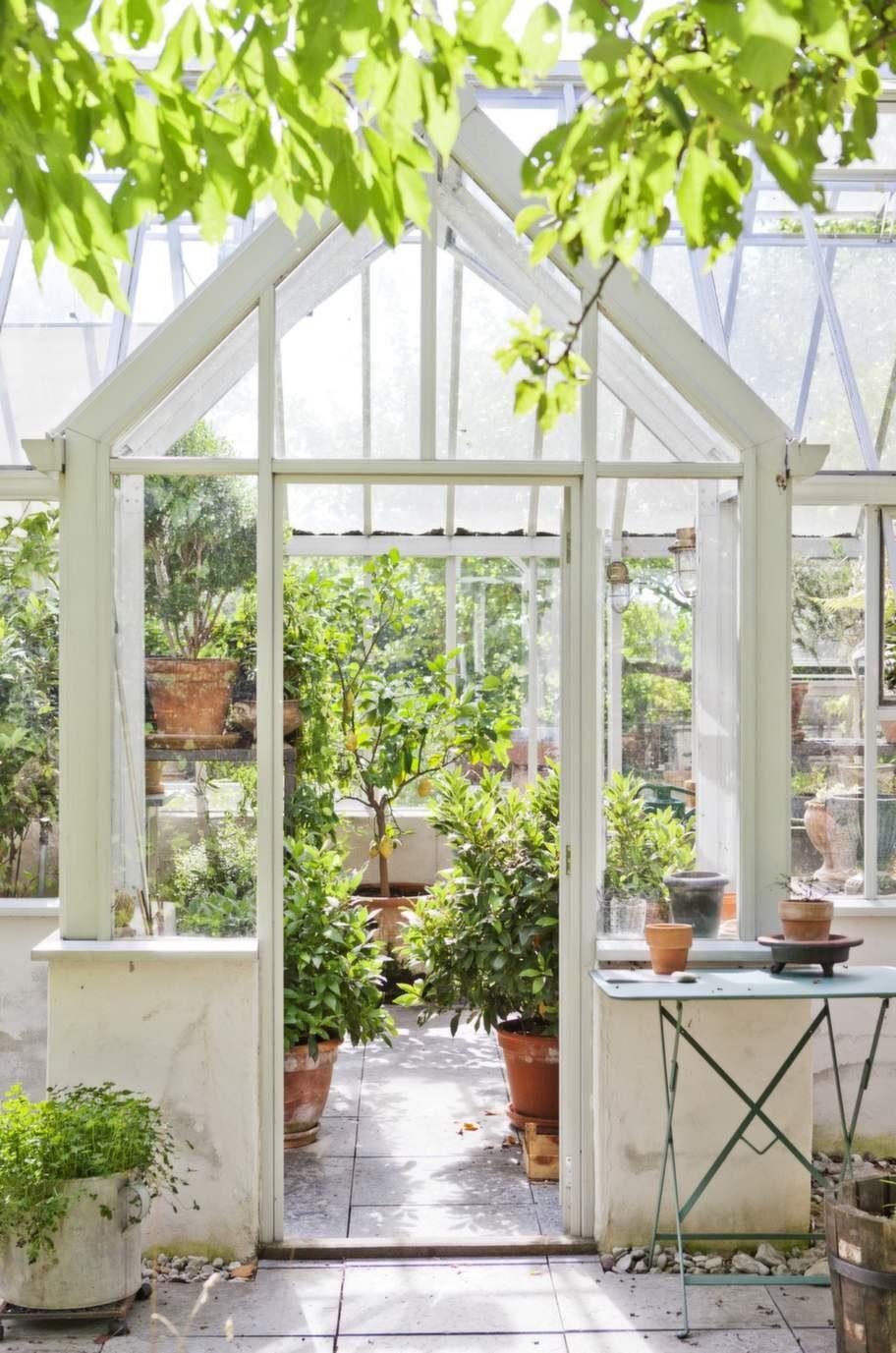 Ingången    till växthuset är både inbjudande och lockar till   nyfikenhet. Det    stora citronträdet dignar av solgula frukter som  trivs  bakom glas.<br><p><br></p><p>Paret</p><p>2 Eva och Örjan framför huset i Mickels.</p>