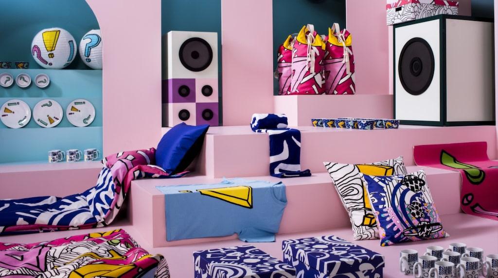 """<p>Den härligt färgglada kollektionen """"Spridd"""" är en nyhet från Ikea.</p>"""