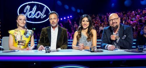 """Tre år tillsammans. Enligt Anders Bagge är """"Idol""""-juryn, med Kishti Tomita, Alexander Kronlund och Nikki Amini, mer sammanflätade i år."""
