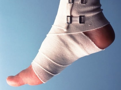 Vila, tryck, is och högläge är fyra måsten när du har skadat dig.