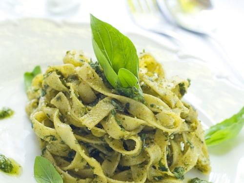 Pesto är en ligurisk specialitet.