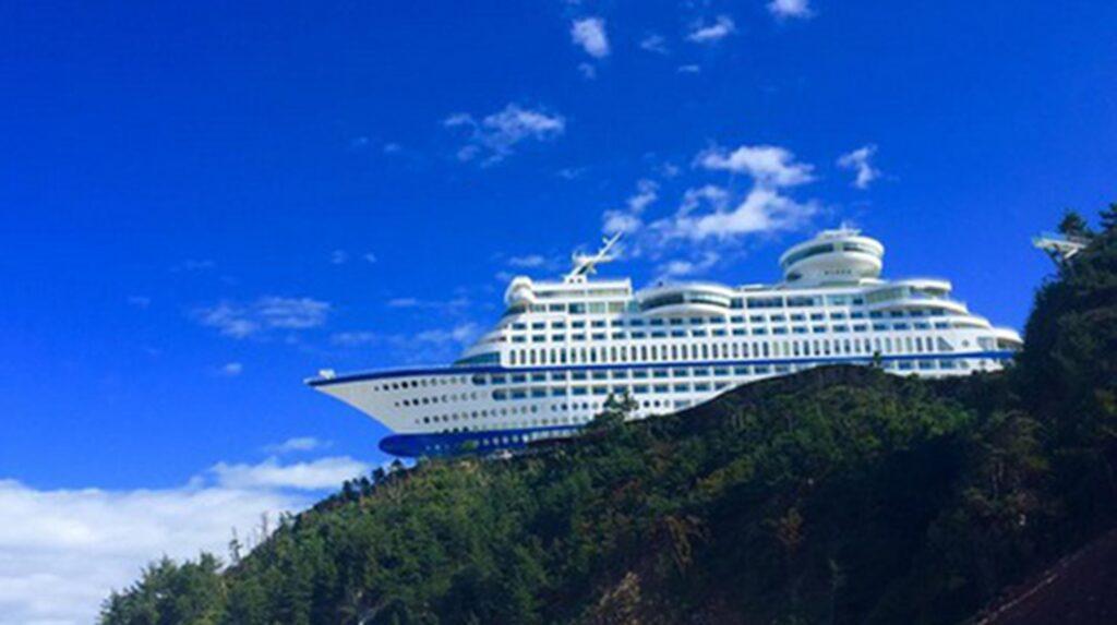 <p>På Sun Cruise Resort i Sydkorea slipper du i alla fall bli sjösjuk.<br></p>