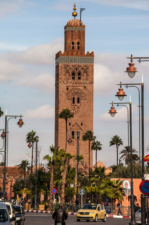 Koutoubiamoskén är den största moskén i Marrakech.