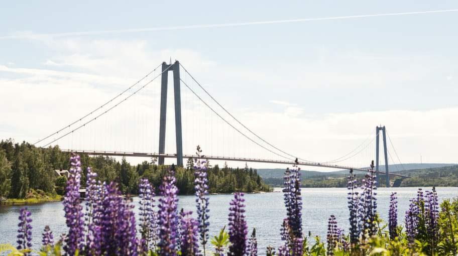 Vackra Höga kusten-bron.