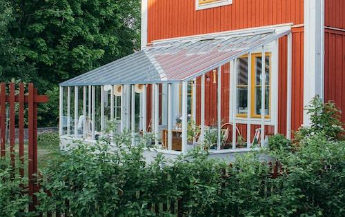 Uterum med inspiration från gammal svensk byggtradition från Sweden Greenhouse.